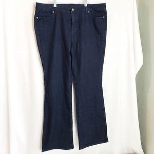 Michael Kors Boot Cut Dark Denim Jeans 14W